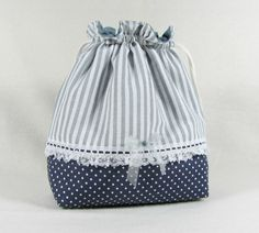 Drawstring cotton pouch small drawstring bag purse  in by JRsbags, €18.00