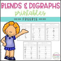 FREE Blends and Digraphs Printables Here are 5 free printables that would be great for your sub tub, to supplement your blends and digraphs lessons or to use as an assessment. Students read the words in the word bank and then write the words next to the correct picture.