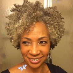 Natural Grey hair for Black women over 50 <br>