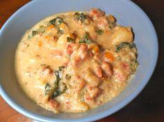 Creamy Kale Soup Kale Soup, Leek Soup, Cheeseburger Chowder, Soups, Board, Blog, Soup, Blogging, Soup Appetizers