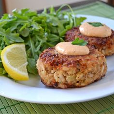 Maryland Crab Cakes with Horseradish-Sriracha Remoulade.  Easy to make and ridiculously delicious.