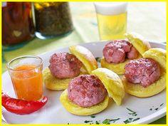 Mini Hambúrguer de calabresa grelhado com geléia de tequila em www.buteconosso.com