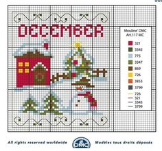 December Christmas chart More