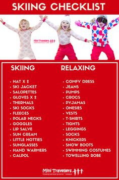 The Ultimate Ski Vacation Packing List  Vacation Packing Lists