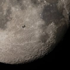 Moon over ISS Completing one orbit of our fair planet in 90 minutes the International Space Station can easily be spotted by eye as a very bright star moving through the night sky. . . . . Image Credit & Copyright: Derek Demeter (Emil Buehler Planetarium) @derekthediscoverer . . . . #space #science #perspective #solarsystem #moon #sun #jupiter #saturn #sizecomparison #planets #earth #cosmos #astrophysics #astroworld #nightphotography #photography #deepspace #spacex #nebula #milkyway #nasa Space Photography, Night Photography, Apollo 11 Landing, Planet Video, Explanation Writing, Astronomy Pictures, Nasa Pictures, Galaxy Photos, International Space Station