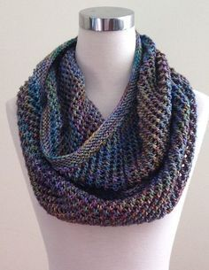 Free Knitting Pattern for Autopilot Cowl - This infinite scarf pattern is aptly named. With its 2-row 2-stitch repeat mesh stitch, you can knit on autopilot. Designed by Dominique Trad