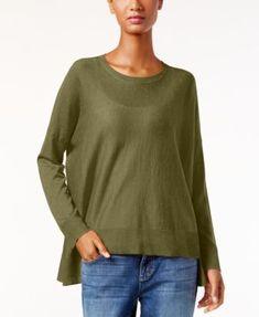 High-Low Boxy Sweater | macys.com