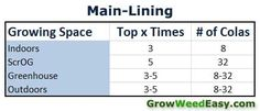 How often to top plants when main-lining? Source: http://www.growweedeasy.com/main-lining-technique-nugbuckets