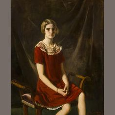 Oswald Birley Portrait of Barbara Hutton   (1880-1952)   Portrait signed and dated 'Oswald Birley/1925' (lower right)     Oil on canvas h x w: 50 x 40 in. Sold for US$ 36,250 inc. premium