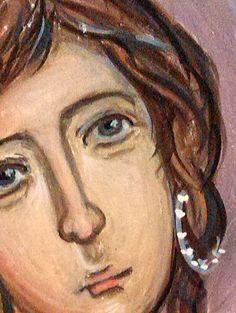 Erofili, a detail of her portrait- A tragic heroine of a play written around 1600 by Cretan Georgios Chortatzis
