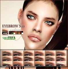 Eyebrows N10 MF at Tifa Sims via Sims 4 Updates