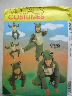 Pattern is brand new with the factory fold Size Adult Small and Medium Fun Costume Costume Patterns, Sewing Patterns, Frog Mask, Frog Costume, School Costume, Drama Class, School Play, Halloween 2016, Narnia