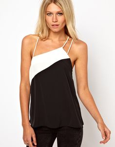 Fancy - Asymmetric Color Block Cami