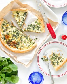 Caramelised Onion & Spinach Tart