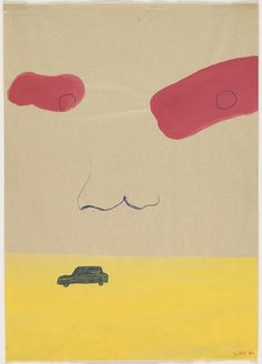 Sigmar Polke. Physiognomy with Car. 1966