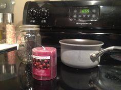Melt a candle into a mason jar | Dollar Store DIY | adoramae.com