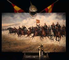 Carga del Regimiento Farnesio en la batalla de castillejos. Más en www.elgrancapitan.org/foro
