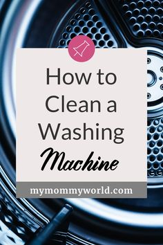 Learning how to clean your washing machine is easy! You'll just need some plain vinegar and bleach to freshen and clean that smelly drum inside the washer...this method works whether you have a top loader or front loader. Cleaning your washing machine regularly will help it better clean your clothes and make it last longer too! Homemade Cleaning Products, Cleaning Recipes, Natural Cleaning Products, Cleaning Hacks, Best Washing Machine Cleaner, Clean Your Washing Machine, Janitorial Cleaning Services, Cleaning With Hydrogen Peroxide, Bathroom Towel Decor