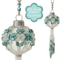Bead Pattern: Crystal Marine Christmas Beaded Ornament