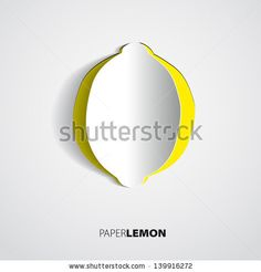 Greeting card with paper lemon sticker - vector by PointaDesign, via Shutterstock