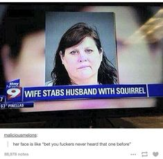 The strangest murder weapon of all time. | 22 Of The Most WTF Things That Have Ever Happened On Tumblr