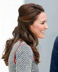 The Duchess of Cambridge: half up do