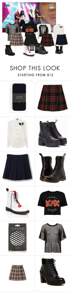 """""""Teeny- """"#1"""" \\Peco Performance"""" by peco-club ❤ liked on Polyvore featuring J.Crew, Yves Saint Laurent, Undercover, WithChic, Dr. Martens, Boohoo, Topshop and Sans Souci"""