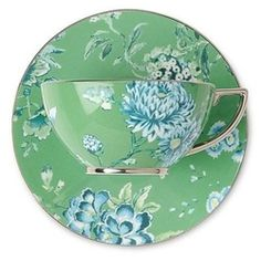 Beautiful green and blue china pattern                          Its a Vintage Life