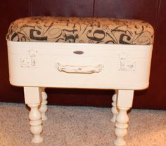 Hey, I found this really awesome Etsy listing at https://www.etsy.com/listing/178049912/vintage-repurposed-suitcase-foot-stool