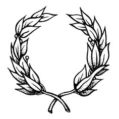 Laurel wreath by Tattoonie Premium Temporary Tattoos. #t4aw # tattooforaweek #temporarytattoo #faketattoo #tattoonie #laurel #wreath #tattoo