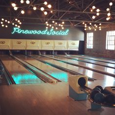 Do: Pinewood Social in Nashville, TN  This place has a restaurant, coffee shop, bar, bowling alley, and a pool. Awesome.