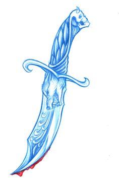 Wolf dagger with skull n stuff. #caspiandelooze #dagger #wolf