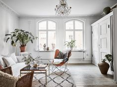 This Charming Swedish Apartment Has a (Genius) Hidden Surprise ~ETS #swedishdecor