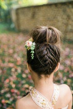 Jolie coiffure fille mariage beauté mariée