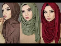 Here is one for the sisters. If you are getting a little fed up of your normal style of Hijab and would like to change it slightly, check these 3 simple styles you can use with jersey hijabs! Hijab Simple, Simple Hijab Tutorial, Hijab Style Tutorial, Turban Tutorial, Hijab Wedding Dresses, Hijab Dress, Hijab Outfit, Scarf Styles, Hijab Styles