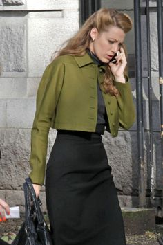 Blake Lively On the Set of 'Age of Adaline'