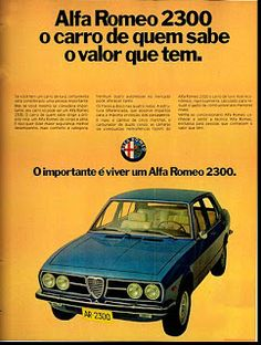 Carros Alfa Romeo, Vintage Ads, Vintage Posters, Alfa Romeo Logo, Car Pictures, Car Pics, Classic Motors, Advertising Signs, All Cars
