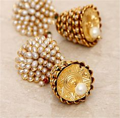 Lovely #white #pearls Jhumkas