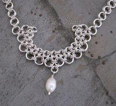 Collar de plata Chainmaille