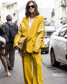"""Italian concept store owner @eleonoracarisi nails this hard-to-wear shade of maize by embracing texture."" @mkellyfashioned reveals how to wear one colour via link in bio. #Image #Fashion #Style #EleonoraCarisi  via IMAGE MAGAZINE OFFICIAL INSTAGRAM - Celebrity  Fashion  Haute Couture  Advertising  Culture  Beauty  Editorial Photography  Magazine Covers  Supermodels  Runway Models"
