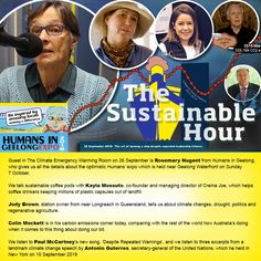 Guest in The Climate Emergency Warming Room on 26 September is Rosemary Nugent from Humans in Geelong, who gives us all the details about the optimistic Humans' expo which is held near Geelong Wate… 26 September, Coffee Pods, United Nations, Paul Mccartney, Secretary, Farming, Sustainability, Leadership, Hold On
