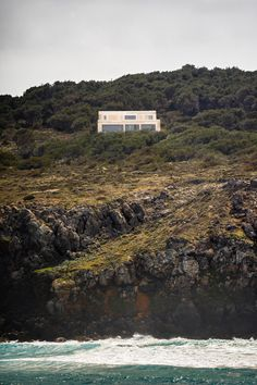 Nomo Studio clads Stone House in Menorca with limestone dug from its site Limestone House, Limestone Wall, Ground Floor Plan, House Elevation, Concrete Floors, Contemporary Architecture, House Design, Gallery, Home Decor