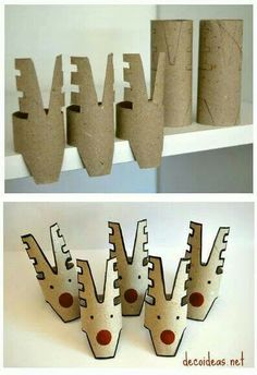 10 Christmas craft projects made out of toilet paper rolls in diy cardboard with Toilet Paper Roll DIY Craft Christmas Advent Christmas Craft Projects, Christmas Activities, Christmas Crafts For Kids, Christmas Fun, Holiday Crafts, Diy Christmas Decorations With Toilet Rolls, Christmas Stocking, Christmas Ornament, Vintage Christmas