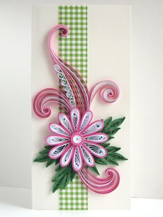 My First Quilling Card
