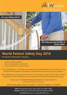 World Patient Safety Day 2014. We are delighted to announce that we will launch our AktivSupport Group in January 2015 to further help patients and their families live safer, less stressful lives and promote healthy and Aktiv living. Come to join our Pre-launch Information Session at our New Delhi centre on 9th December 2014, from 3 pm to 5 pm
