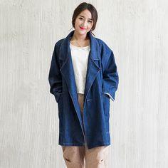 38.29$  Watch now - https://alitems.com/g/1e8d114494b01f4c715516525dc3e8/?i=5&ulp=https%3A%2F%2Fwww.aliexpress.com%2Fitem%2FNew-2016-Autumn-Fashion-Design-Maternity-Coat-Pregnant-Women-Denim-Casual-Coat-Gravida-Turn-down-Collar%2F32730393167.html - New 2016 Autumn Fashion Design Maternity Coat Pregnant Women Denim Casual Coat Gravida Turn-down Collar Loose Long Jean Jacket