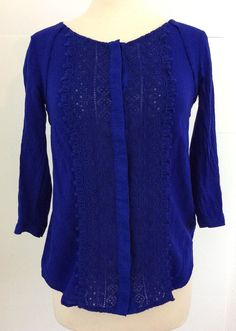 3c6cfc7bb4c Maeve (Anthropologie) womens button up blouse SZ 0 Blue purple