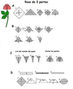 Origami Folhas de Arte: Flôres