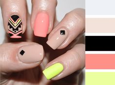 Aztec Nail Designs Ideas 89 impressive aztec nail art ideas for people who long for a Aztec Nail Designs. Here is Aztec Nail Designs Ideas for you. Aztec Nail Designs 89 impressive aztec nail art ideas for people who long for a. Aztec Nail Designs, Short Nail Designs, Nail Art Designs, Nails Design, Love Nails, How To Do Nails, Pretty Nails, Beige Nails, Blue Nail