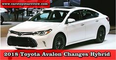 One takes a gander at this indicated new 2018 Toyota Avalon Changes Hybrid , and you comprehend what matters to the auto. As far back as its...